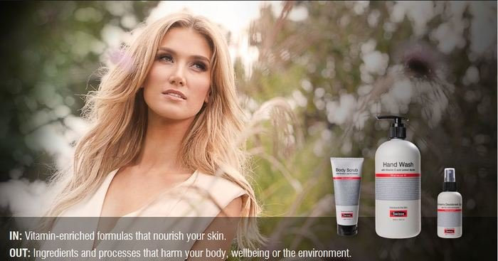 Swisse Body all natural skin care range