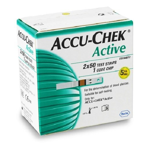 Image of Accu-chek active strips 100s