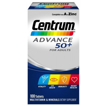 Centrum Advance 50+ For Adults 100 Tablets