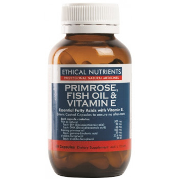 Ethical Nutrients Primrose, Fish Oil & Vitamin E 60 Caps