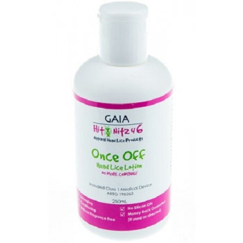 Gaia Hit Nitz4 6 Once Off Head Lice Lotion 250mL