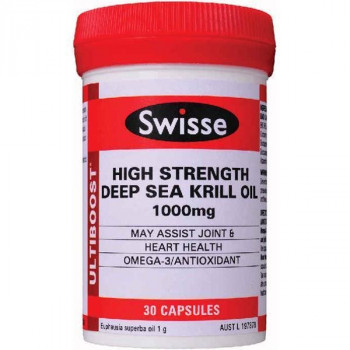 Swisse High Strength Deep Sea Krill Oil 1000mg 30 Capsules