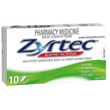 Zyrtec 10Mg Tablets x10