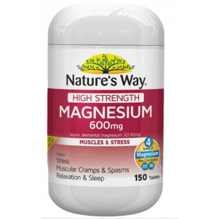 way nature magnesium strength tabs 600mg yourchemistshop