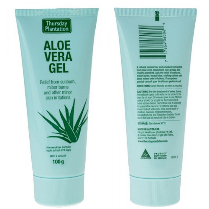 thursday plantation aloe vera gel 100g your chemist shop. Black Bedroom Furniture Sets. Home Design Ideas