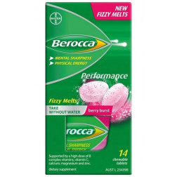 Berocca Performance Fizzy Melts 14 Berry Burst