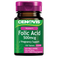 Cenovis Folic Acid 500mcg 1-A-Day 150 Tablets