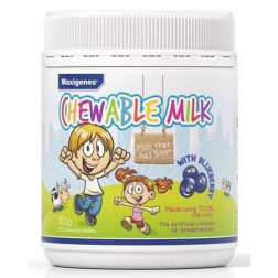 Maxigenes Chewable Milk With Blueberry 150 Tablets