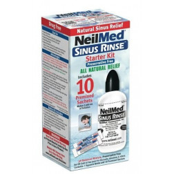 NeilMed Sinus Rinse Starter Kit Bottle + 10 Sachets
