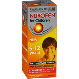 Nurofen Children 5-12 years Strawberry Flavour 100ml