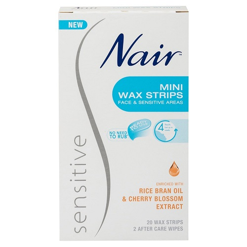 Nair Sensitive Mini Wax Strips 20 Pack 15766